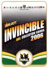 2006 NRL Invincible Common #1 Checklist 1