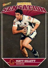 2011 NRL Champions Rookie Sensation #RS1 Matt Gillett Broncos