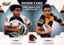 2012 NRL Champions Showtime #ST1 Thaiday / Parker Broncos