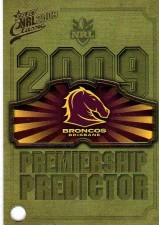 2009 NRL Classic Broncos Redeemed Predictor