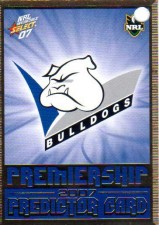 2007 NRL Invincible Enforcer Bulldogs Redeemed Predictor