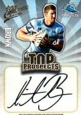 2009 NRL Classic Top Prospects Signature TP4 Mitch Brown Sharks #292/300