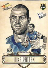 2009 NRL Champions Sketch #SK4 Luke Patten Bulldogs