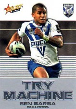 2012 NRL Champions Try Machine #TM8 Ben Barba Bulldogs