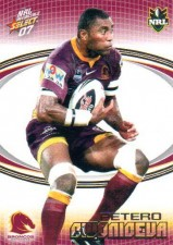 2007 NRL Invincible Common #9 Petero Civoniceva Broncos