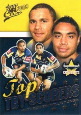 2009 NRL Classic Top Try Scorer TT9 Bowen / Tonga Cowboys with Redeemed Predictor