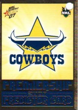 2007 NRL Invincible Cowboys Redeemed Predictor