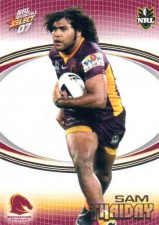 2007 NRL Invincible Common #10 Sam Thaiday Broncos