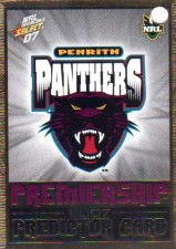 2007 NRL Invincible Panthers Redeemed Predictor