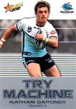 2012 NRL Champions Try Machine #TM12 Nathan Gardner Sharks