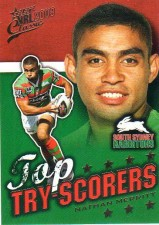 2009 NRL Classic Top Try Scorer TT13 Nathan Merritt Rabbitohs with Redeemed Predictor