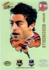 2008 NRL Champions Gem Card #GC14 Anthony Minichiello Roosters