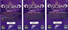 2009 NRL Classic 3-Card Redeemed Premiership Set Storm #69/300 back
