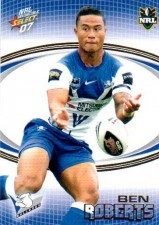 2007 NRL Invincible Common #24 Ben Roberts Bulldogs