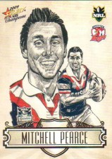 2009 NRL Champions Sketch #SK28 Mitchell Pearce Roosters