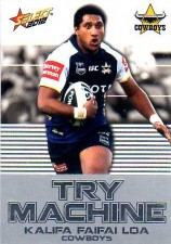 2012 NRL Champions Try Machine #TM28 Kalifa Faifai Loa Cowboys