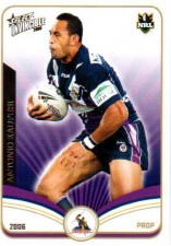 2006 NRL Invincible Common #73 Antonio Kaufusi Storm