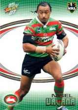 2007 NRL Invincible Common #157 Nigel Vagana Rabbitohs