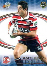 2007 NRL Invincible Common #161 Anthony Minichiello Roosters