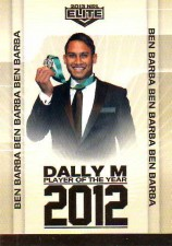 2013 NRL Elite Album Card #1 Ben Barba Bulldogs
