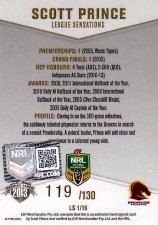 2013 NRL Elite League Sensations Signature LS1 Scott Prince Broncos #119/130