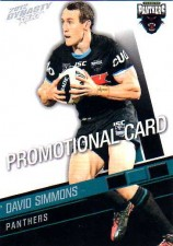 2012 NRL Dynasty PROMO Card David Simmons Panthers