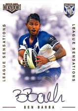 2013 NRL Elite League Sensations Signature LS2 Ben Barba Bulldogs #32/130