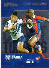 2013 NRL Traders Chart Toppers #CT2 Ben Barba / Akuila Uate