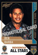2012 NRL Dynasty PROMO Card Ben Barba Bulldogs