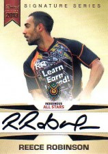 2013 NRL Limited Edition Signature Series SS3 Reece Robinson Raiders Indigenous All Stars #40/167