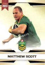 2013 NRL Limited Edition #2 Matthew Scott Cowboys