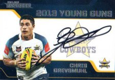 2013 NRL Traders Young Guns Signature #YG4 Chris Grevsmuhl Cowboys
