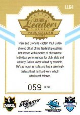 2012 NRL Dynasty Gold League Leader LLG4 Paul Gallen Sharks #59/150