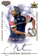 2013 NRL Elite League Sensations Signature LS4 Johnathan Thurston Cowboys #66/130