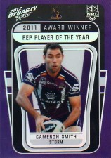 2012 NRL Dynasty Award Winner #AW4 Cameron Smith Storm