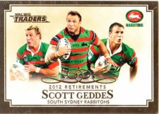 2013 NRL Traders Retirements #R4 Scott Geddes Rabbitohs