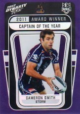 2012 NRL Dynasty Award Winner #AW5 Cameron Smith Storm