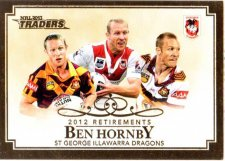 2013 NRL Traders Retirements #R6 Ben Hornby Dragons