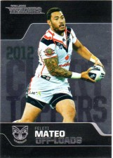 2013 NRL Traders Chart Toppers #CT6 Feliti Mateo Warriors