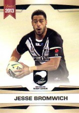 2013 NRL Limited Edition #6 Jesse Bromwich Storm New Zealand