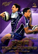 2012 NRL Dynasty Top Try Scorer #TT7 Slater / Chambers Storm with Redeemed Predictor