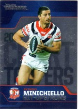 2013 NRL Traders Chart Toppers #CT7 Anthony Minichiello Roosters