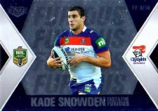 2013 NRL Elite Fast & Furious #FF8 Snowden / Uate Knights
