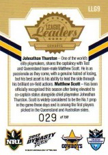 2012 NRL Dynasty Gold League Leader LLG9 Thurston / Scott Cowboys #29/150