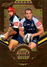 2012 NRL Dynasty Gold League Leader LLG9 Thurston / Scott Cowboys #132/150
