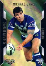 2014 NRL Elite Gold Parallel #SP10 Michael Ennis Bulldogs