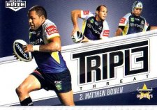 2013 NRL Elite Triple Threats TT11 Matthew Bowen Cowboys