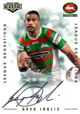 2013 NRL Elite League Sensations Signature LS12 Greg Inglis Rabbitohs #120/130