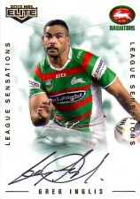 2013 NRL Elite League Sensations Signature LS12 Greg Inglis Rabbitohs #34/130