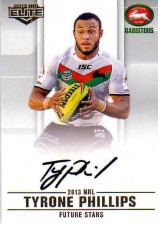 2013 NRL Elite Future Stars Signature FS12 Tyrone Phillips Rabbitohs #41/105